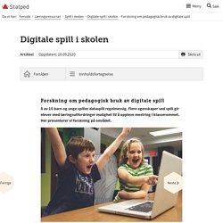 Forskning om pedagogisk bruk av digitale spill