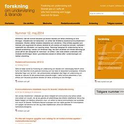 Nummer 12 - Forskning om undervisning och lärande