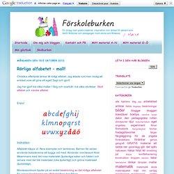 Förskoleburken: Rörliga alfabetet – mall!