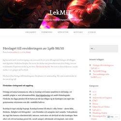 Förslaget till revideringen av Lpfö 98/10 – LekMiT