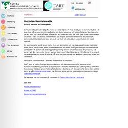 Forss Webservice - Samtalsmatta