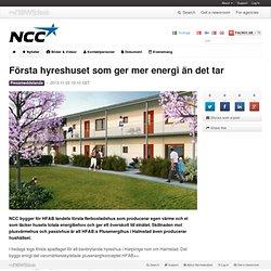 Första hyreshuset som ger mer energi än det tar - NCC AB