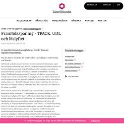 Framtidsspaning - TPACK, UDL och läslyftet – Förstelärarbloggen
