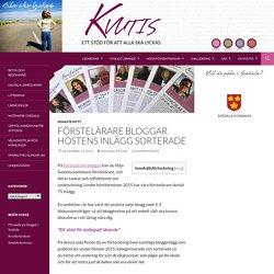 Förstelärare bloggar höstens inlägg sorterade