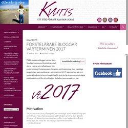 Förstelärare bloggar vårterminen 2017