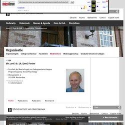 dhr. prof. dr. J.A. (Jens) Forster - Universiteit van Amsterdam