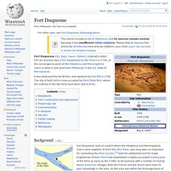 Fort Duquesne - Wikipedia