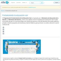 Fortaleciendo la educación vial - Educ.ar