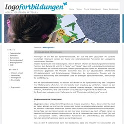Phonologie Logopädie Seminare Fortbildung Wildeshausen