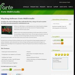 Forte MidiToAudio - Forte Notensatz