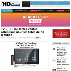 TV UHD : De fortes ventes attendues pour les fêtes de fin d'année