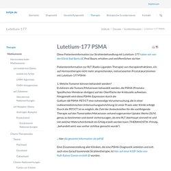 Lutetium-177 PSMA - Bundes-Netzwerk fortgeschrittener Prostatakrebs e.V.