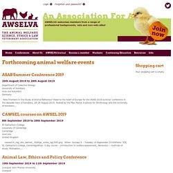Forthcoming animal welfare events