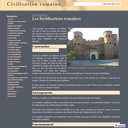Les fortifications romaines