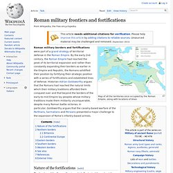 Romaines frontières militaires et de fortifications