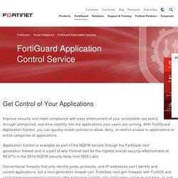 FortiGuard Services Application Control