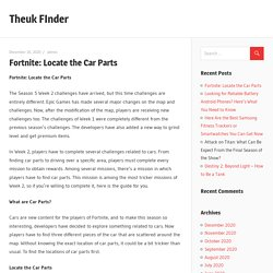 Fortnite: Locate the Car Parts – Theuk FInder