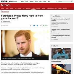 Fortnite: Is Prince Harry right to want game banned?