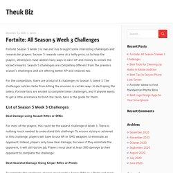 Fortnite: All Season 5 Week 3 Challenges