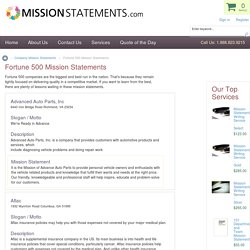 Fortune 500 Mission Statements
