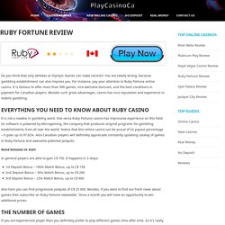 Ruby Fortune Casino Review & Rating - PlayCasinoCA