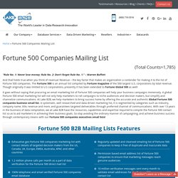 Fortune 500 Marketing Mailing Lists