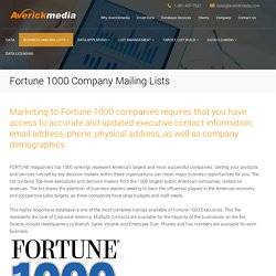 Fortune 1000 Company Mailing Lists