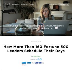 How More Than 160 Fortune 500 Leaders Schedule Their Days