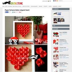 Paper fortune teller origami heart
