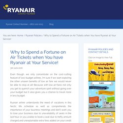 Why to Spend a Fortune on Air Tickets when You have Ryanair at Your Service!