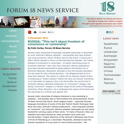 Forum 18 Search/Archive
