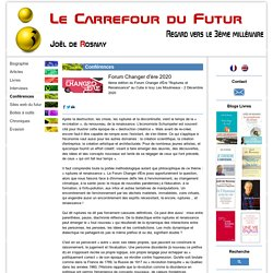 Forum Changer d'ère 2020