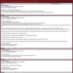Forum de Conteur.com