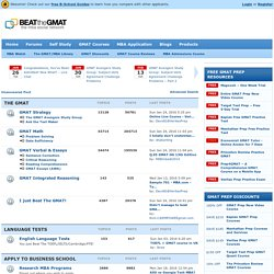 The Beat The GMAT Forum - Expert GMAT Help & MBA Admissions Advice