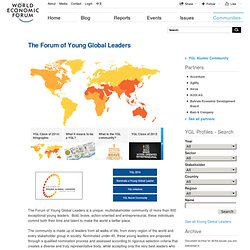 World Economic Forum - The Forum of Young Global Leaders