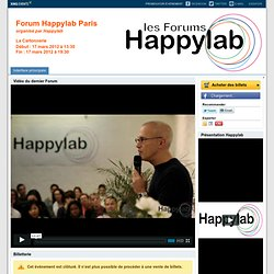 Forum Happylab Paris Paris