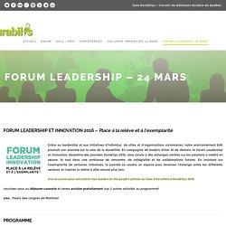 » Forum leadership – 24 mars