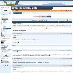 forum de maths : concours général 2012