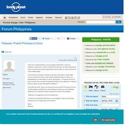 Forum - Palawan: Puerto Princesa à Coron