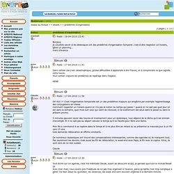 Forum : divers / problèmes d'organisation