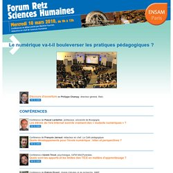 Forum Retz Sciences Humaines