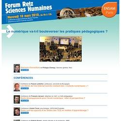 Forum Retz Sciences Humaines