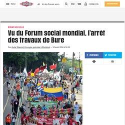 Vu du Forum social mondial, l'arrêt des travaux de Bure