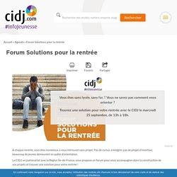 Forum Solutions pour la rentrée