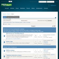 Forum Tice-Education: Index
