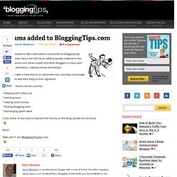 Blogging Forums