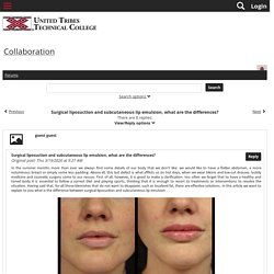 Surgical liposuction and subcutaneous lip emulsion, what are the differences?
