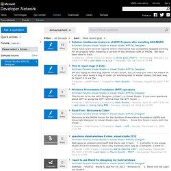 Visual Studio WPF Designer Forum