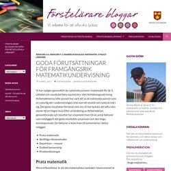 Goda förutsättningar för framgångsrik matematikundervisning