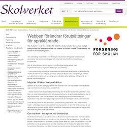 Webben förändrar förutsättningar för språklärande